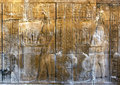 A Beautifully Decorated Wall Displaying Engravings And Hieroglyphs At The Temple Of Kom Ombo In Egypt. Stock Photos - 74949893