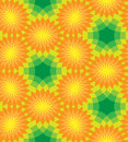 Seamless  Floral Pattern. Orange Flowers On Green Background.  Royalty Free Stock Photos - 74959018
