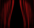 Red Curtains On Stage. Royalty Free Stock Photo - 74962395