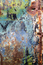 Peeling Paint And Rusty Old Metal Texture Stock Image - 74963341