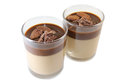 Chocolate Panna Cotta Royalty Free Stock Image - 74969406