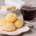 Brazilian Snack Pao De Queijo (cheese Bread) Stock Photo - 74977110