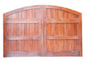 Large Wooden Gate Isolated Royalty Free Stock Photos - 74978378
