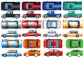 Set Of Cars And Trucks In Many Colors Royalty Free Stock Images - 74985999