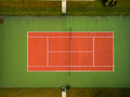 Tennis Court Seen From The Air Stock Photos - 74995713