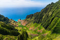 Aerial Landscape View Of Cliffs And Green Valley, Kauai Royalty Free Stock Photo - 75025895
