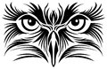 Eagle Eyes Tattoo Stock Photo - 75036980