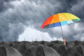 Different Colorful Umbrella Holding Stock Photo - 75039610