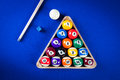 Billiard Balls In A Pool Table Stock Images - 75050524