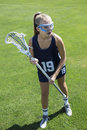 Girls Lacrosse Player Action Stock Photos - 75072083