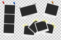 Set Of Realistic Vector Photo Frames On Sticky Tape, Pins And Rivets Royalty Free Stock Photo - 75097775