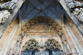 Ulmer Münster Cathedral Church Front Entrance Facade Decoration Stock Photo - 75101090