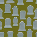 Tombstone Seamless Pattern. Old Gravestone Ornament. Cemetery Ba Royalty Free Stock Photo - 75102125