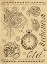 Old Mechanism Of Clock In Steampunk Style Stock Photos - 75114043