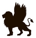 Lioness With Wings. Vector Drawing Royalty Free Stock Photo - 75121015