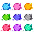 Cute Colorful Cartoon Round Buttons Stock Image - 75123441