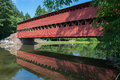 Sachs Bridge With Reflection In The Water In Gettysburg, Pennsylvania Royalty Free Stock Image - 75154616