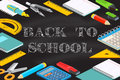 Back To School Typographical Background On Chalkboard. Royalty Free Stock Photos - 75175648