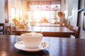 Cup Of Coffee On Table In Cafe Royalty Free Stock Image - 75180956