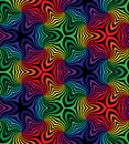 Seamless Black And Colorful Curls Pattern.Geometric Abstract Background. Stock Photography - 75182132