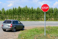 Stop Sign On The Road Royalty Free Stock Photos - 75184618