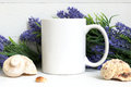 Mock-up Of A White Mug Royalty Free Stock Image - 75189976