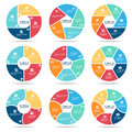 Circle Infographic (part Four, Part Five And Part Six) Vector Set Design Royalty Free Stock Photos - 75190648