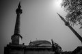 Two Minarets In Black And White Stock Photography - 75208972