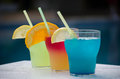 Three Colorful Cocktail Glasses Royalty Free Stock Photography - 75209137