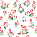 Watercolor Flowers Colorful Seamless Pattern. Vector Illustration. Royalty Free Stock Photos - 75225768