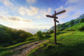 Signpost In Mountain Stock Photography - 75244612
