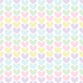 Cute Valentine S Seamless Pattern With Hearts Stock Image - 75252151
