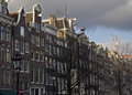 Historical Houses In Amsterdam Royalty Free Stock Photos - 75259598
