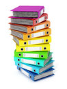 Multi Colored Folders Stack. 3D Illustration Stock Photo - 75277110