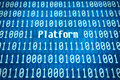 Binary Code With The Word Platform Stock Image - 75280661