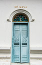 Blue  Ancient  Door Royalty Free Stock Photography - 75292387