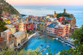 Vernazza At Sunset, Cinque Terre, Liguria, Italy Stock Images - 75295574
