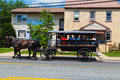 Lancaster County Tourists In Large Horse Drawn Wagon Royalty Free Stock Photography - 75299797