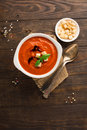 Tomato Red Pepper Soup Stock Image - 75300641
