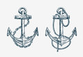 Vector Hand Drawn Nautical Anchor. Vintage Sketch Element Ship, Travel Stock Photography - 75305322