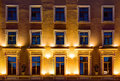 Windows On Night Facade Of Office Building Royalty Free Stock Image - 75305936