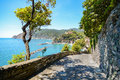 Cinque Terre: Hiking Trail To Monterosso Al Mare In Early Summer, Liguria Italy Royalty Free Stock Images - 75311979