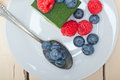 Green Tea Matcha Mousse Cake With Berries Royalty Free Stock Photo - 75323705