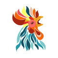 Vector  Isolated Rooster Head Royalty Free Stock Photos - 75333628