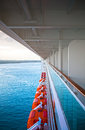 View Of The Caribbean Sea From Deck Of A Cruise Ship Stock Image - 75335781