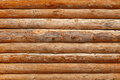 Log Cabin Debarked Wall Textured Horizontal Background Stock Images - 75364634