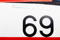 Painted Number On An Old War Plane Stock Image - 75372621