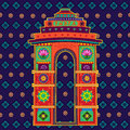 India Gate In Indian Art Style Royalty Free Stock Images - 75380139