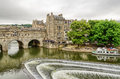 Aerial View Of Pultney Bridge And Weir, Bath, England Royalty Free Stock Photo - 75407285