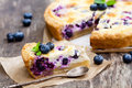 Cheesecake  With Blueberry  And Mint. Summer Dessert Royalty Free Stock Image - 75420896